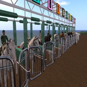 Jockeys in the Gates ready to race...