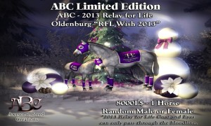 "ABC ""RFL Wish 2013""  Charity Horse (Oldenburg)"