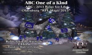 "ABC ""RFL Magic 2013"" (Oldenburg) OOAK Auction Horse"