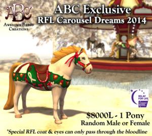 ABC - RFL Carousel Dreams - Pony